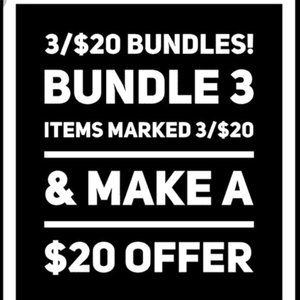 **HUGE SALE!** 3/$20 BUNDLE SALE MULTI-SIZE/GENDER
